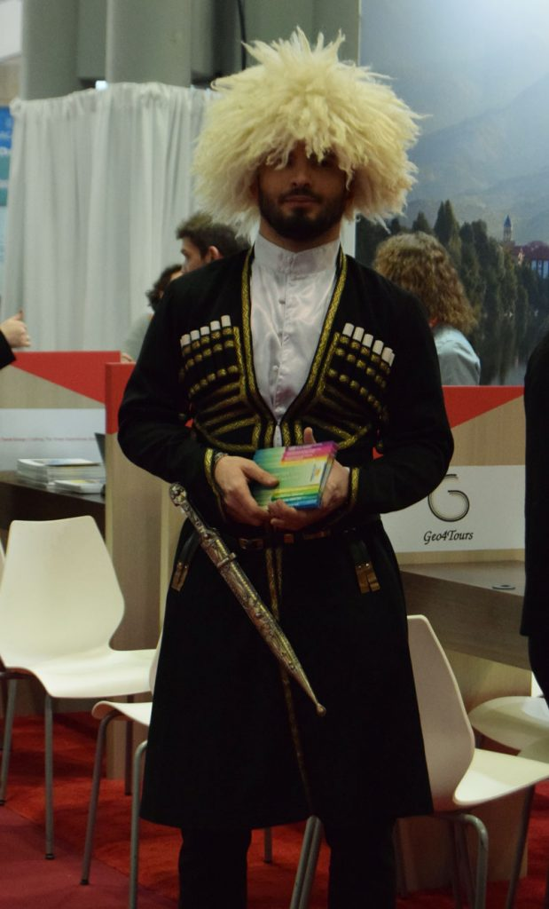 Uzbekistan Traditional dress at the New York Times Travel Show