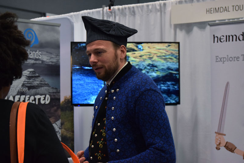 Denmark Traditional dress at the New York Times Travel Show
