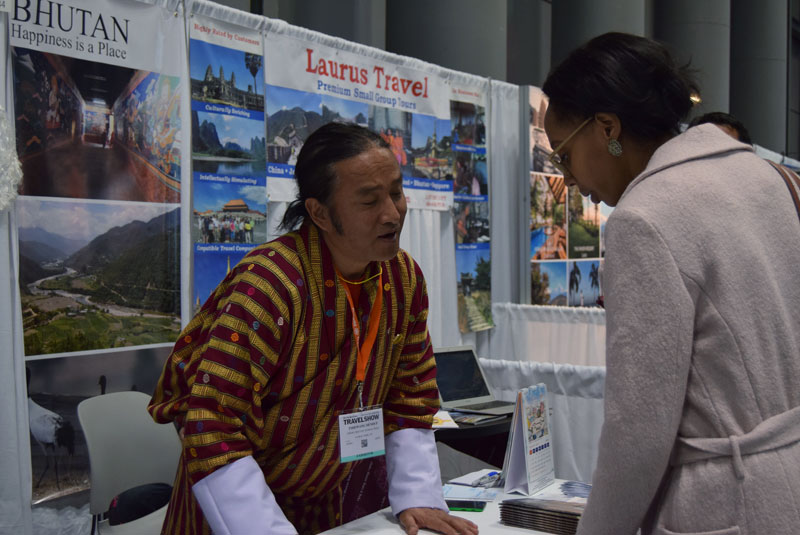 New York Times Travel Show Bhutan table