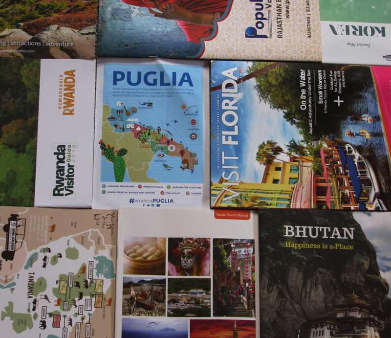 Travel Show brochures